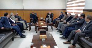 القضاء يلتقي بوفد من رؤساء البلديات