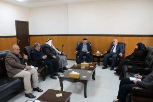 القضاء يستقبل لجنة الداخلية والأمن بالمجلس التشريعي