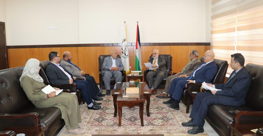 القضاء يستقبل وفداً من وزارة الداخلية والأمن الوطني