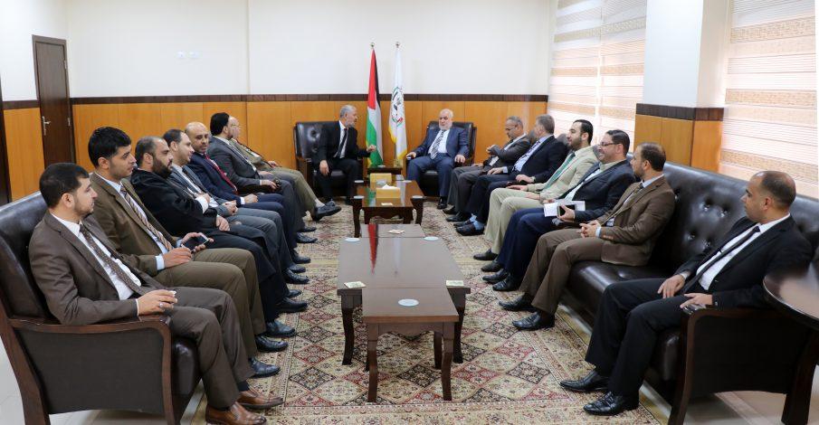 المستشار عابد يستقبل قضاة المحاكم بعد أيام العدوان الأخيرة