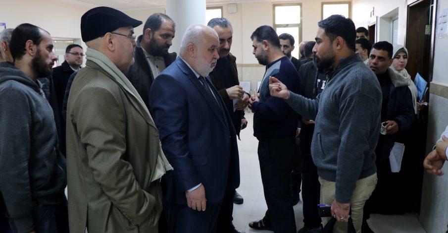المستشار عابد يتفقد سير العمل في مجمع قصر العدل ودائرة التنفيذ