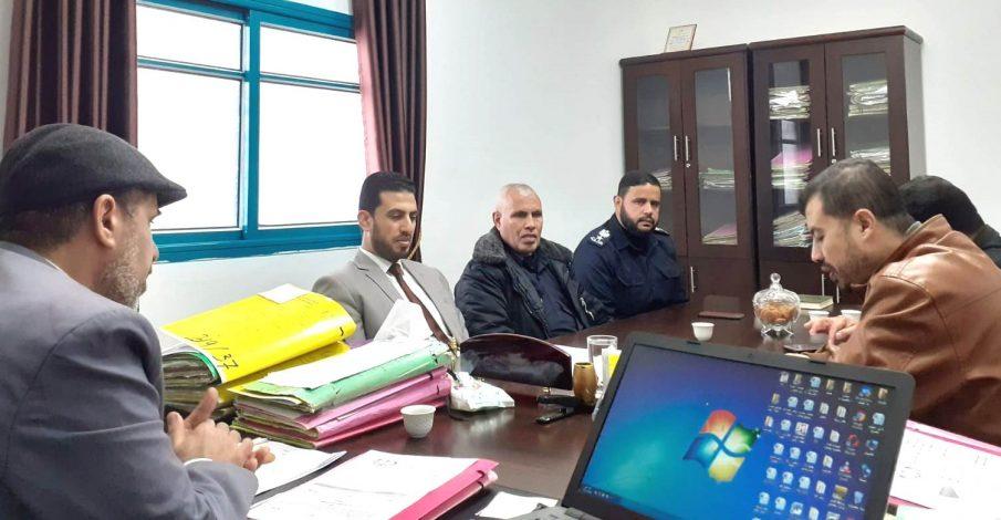 بداية دير البلح تجتمع مع قيادة الشرطة في المحافظة الوسطى