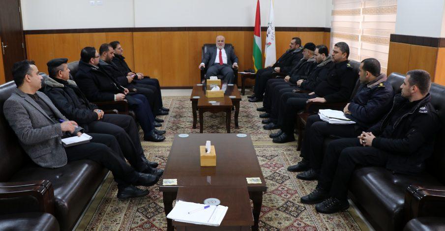 المستشار عابد يستقبل وفداً من المديرية العامة للإصلاح والـتأهيل