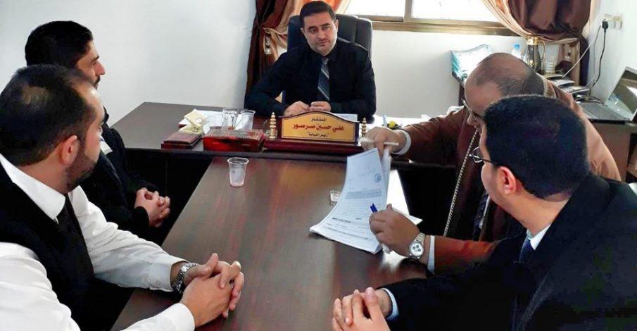 محكمة صلح شمال غزة تلتقي نيابة الشمال لبحث التعاون المشترك