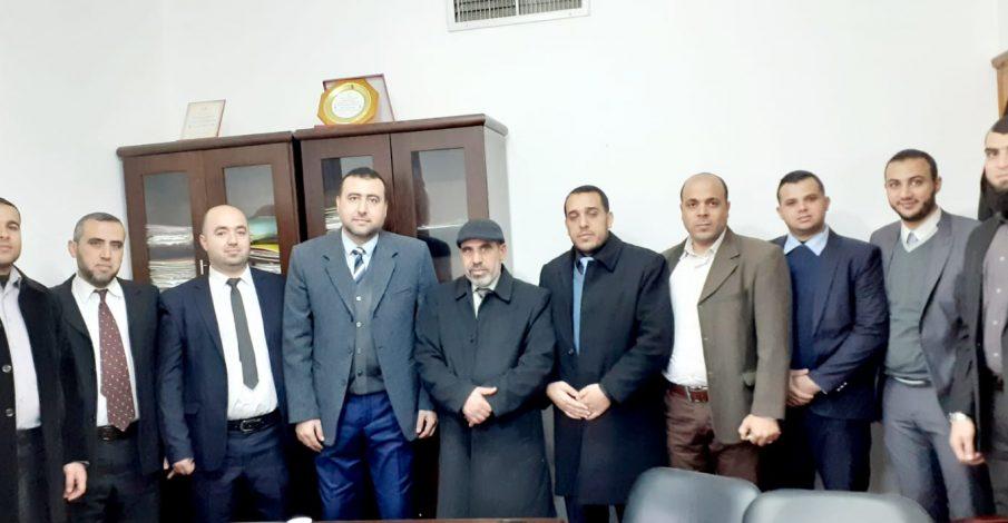 محكمة بداية دير البلح تستقبل وفدًا من الدائرة القانونية في شرطة مكافحة المخدرات