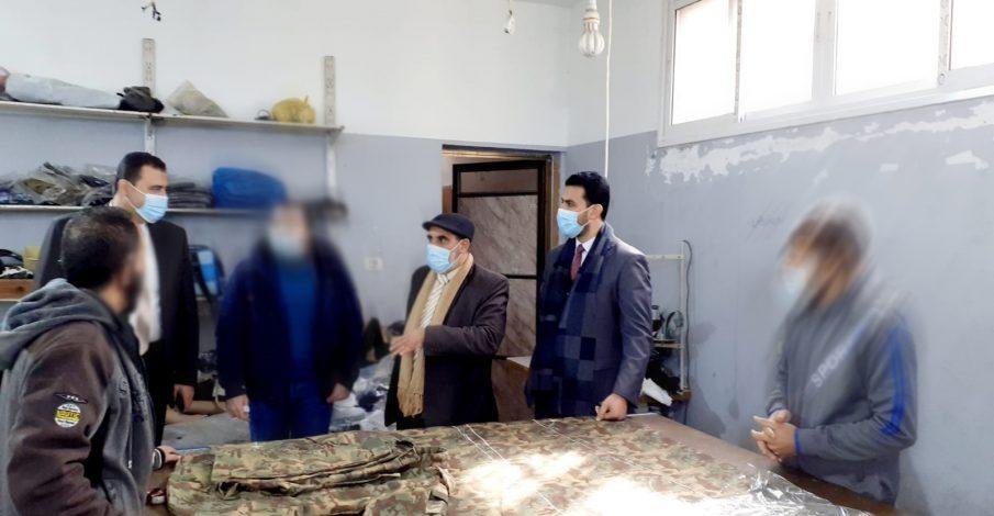 .بداية دير البلح تتفقد النزلاء في سجن دير البلح المركزي